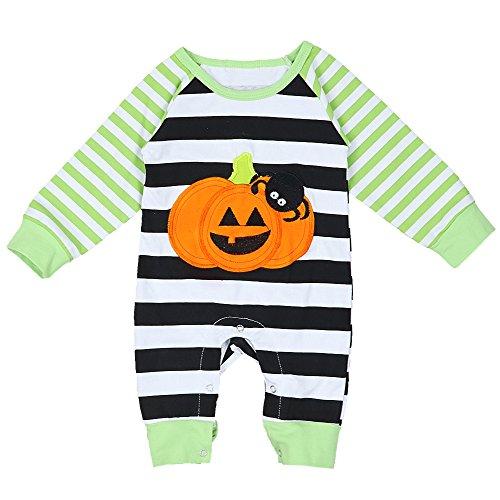 Baby Halloween Outfit Funny Pumpkin Baby boy Romper Newborn Cute -