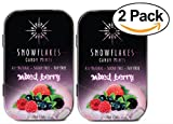 Snowflakes Xylitol Candy- Made with only 2 ingredients (2-PACK) (Mixed Berry)