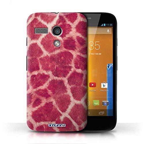 Etui / Coque pour Motorola MOTO G (2013) / Rose conception / Collection de Girafe animale Peau/Motif