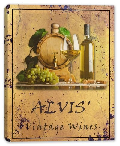 alvis-family-name-vintage-wines-stretched-canvas-print-16-x-20