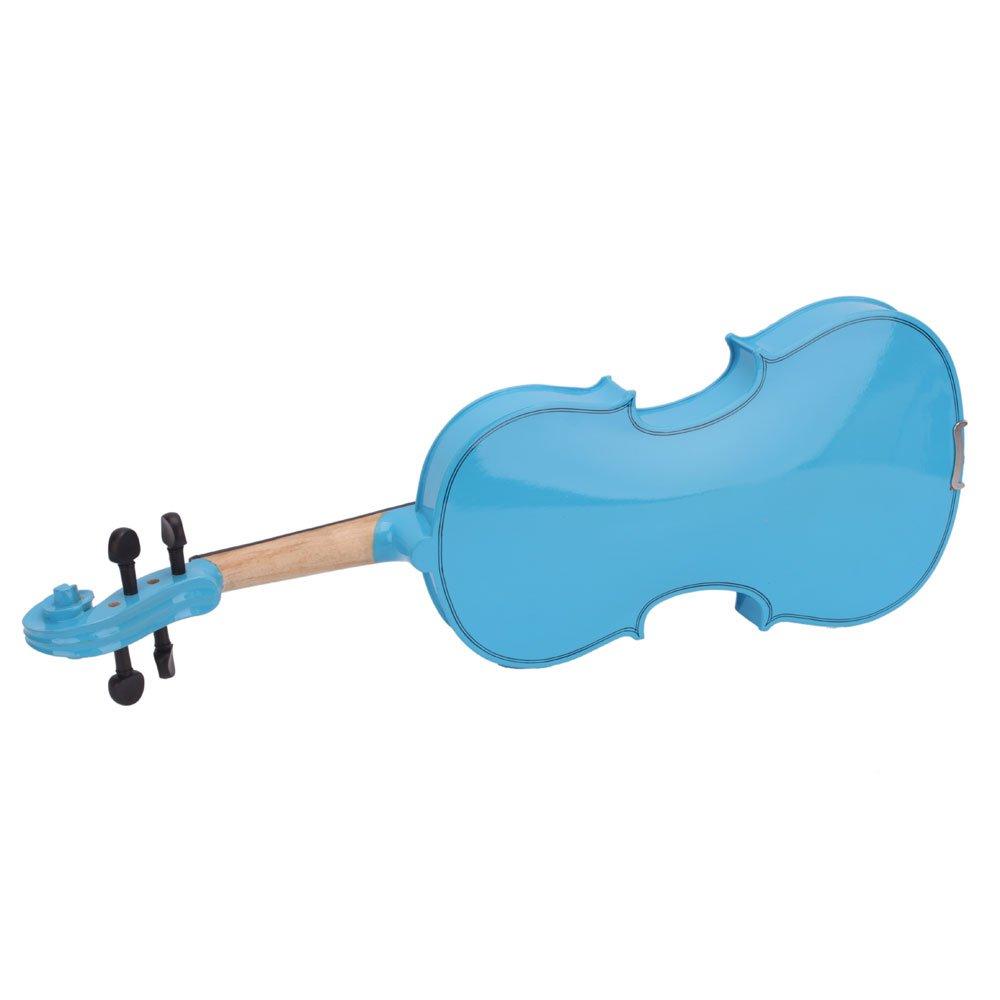 Lovinland 4/4 Acoustic Violin Blue Beginner Violin Full Size with Case Bow Rosin by Lovinland (Image #5)