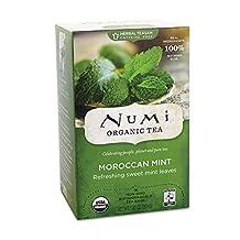 Numi Teas, Numi Organic Tea Moroccan Mint 18 Tea Bags Case of 6