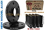 2Pc New Model Audi Hub Centric Black Wheel Spacers 15 MM Thick | 66.6 Bore | Black M14x1.5 Conical Bolts |09-2019 A4 A5 A6 A7 A8 All Road S4 S5 S6 S7 RS5 RS7 Q5 SQ5 W/Aftermarket Wheels
