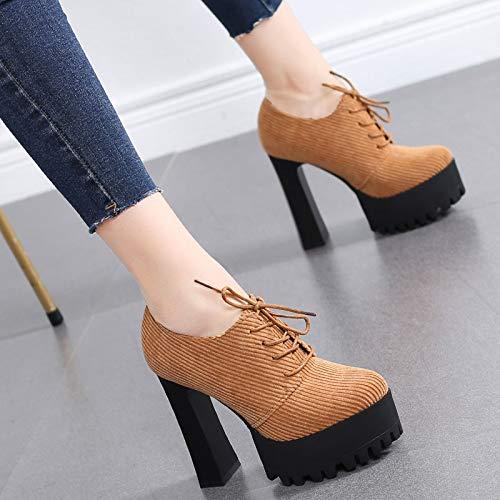 HRCxue Pumps Pumps Pumps Wilde Spitze Frauen Schuhe tiefen Mund dick mit Wasserdichte Plattform High Heels Schuhe der einzelnen Schuhe Frauen 0ca2c8