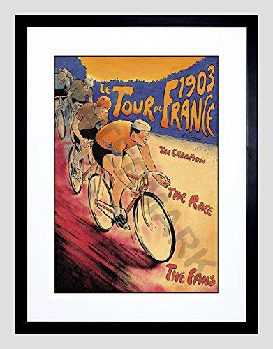 Wee Blue Coo Tour DE France 1903 Super Framed Print Wall Art F12X11801