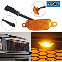 EAG Ford Raptor Style Front Grille Plug-N-Play Amber LED Lighting Kit (Single)
