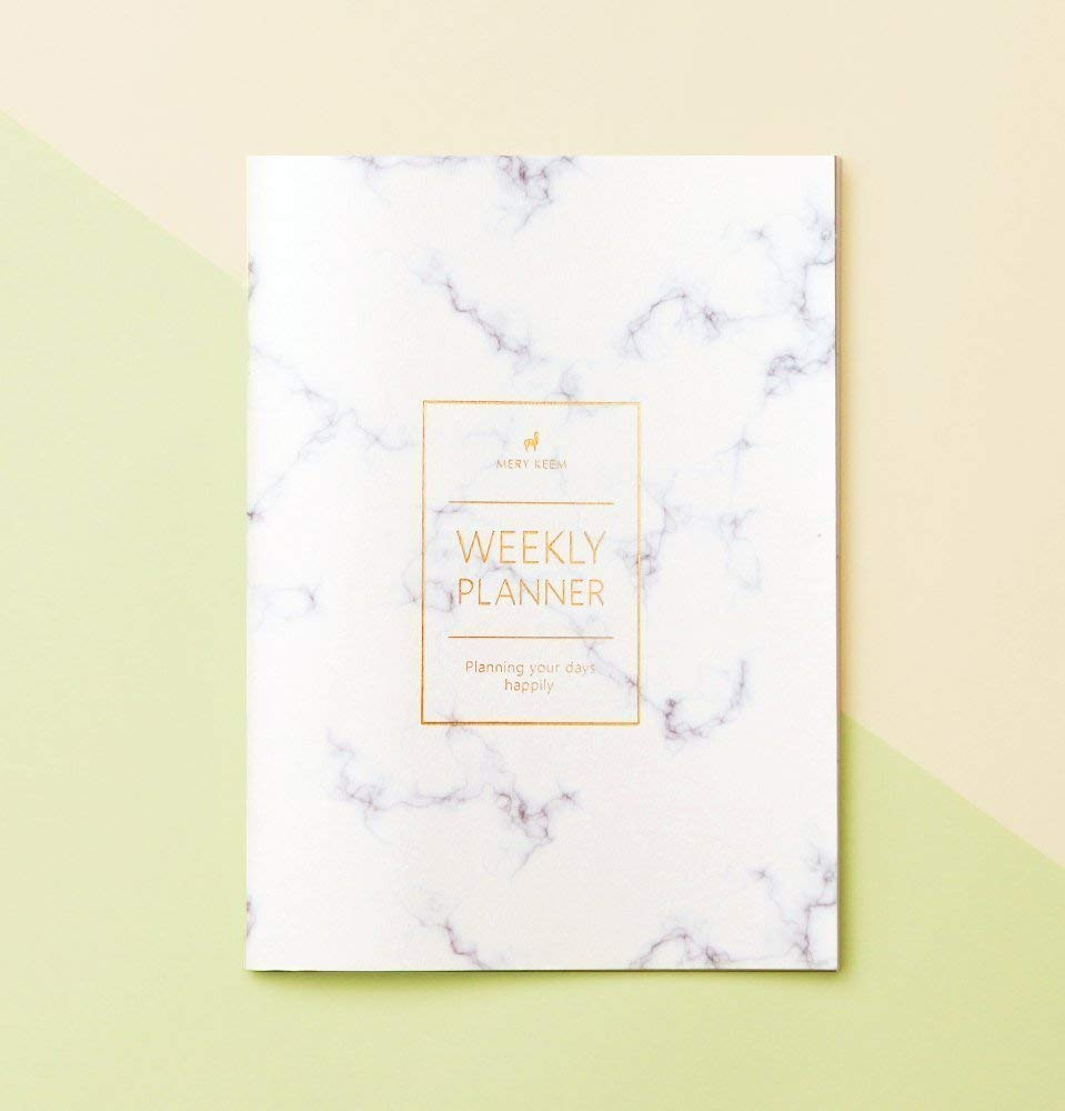 Marble Weekly Planner (Dateless) • 2019 Weekly Notebook • Agenda • Diary •  Bridesmaid Gift • Travel Planner • Travel Planner • To do