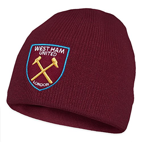 West Ham United Football Club Official Soccer Gift Knitted Beanie Hat Claret