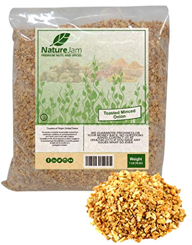 KOSHER Minced & TOASTED Onions (1 Pound) ()