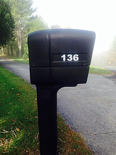"""2 Sets of 2"""" Custom Reflective Mailbox Numbers Decals"""