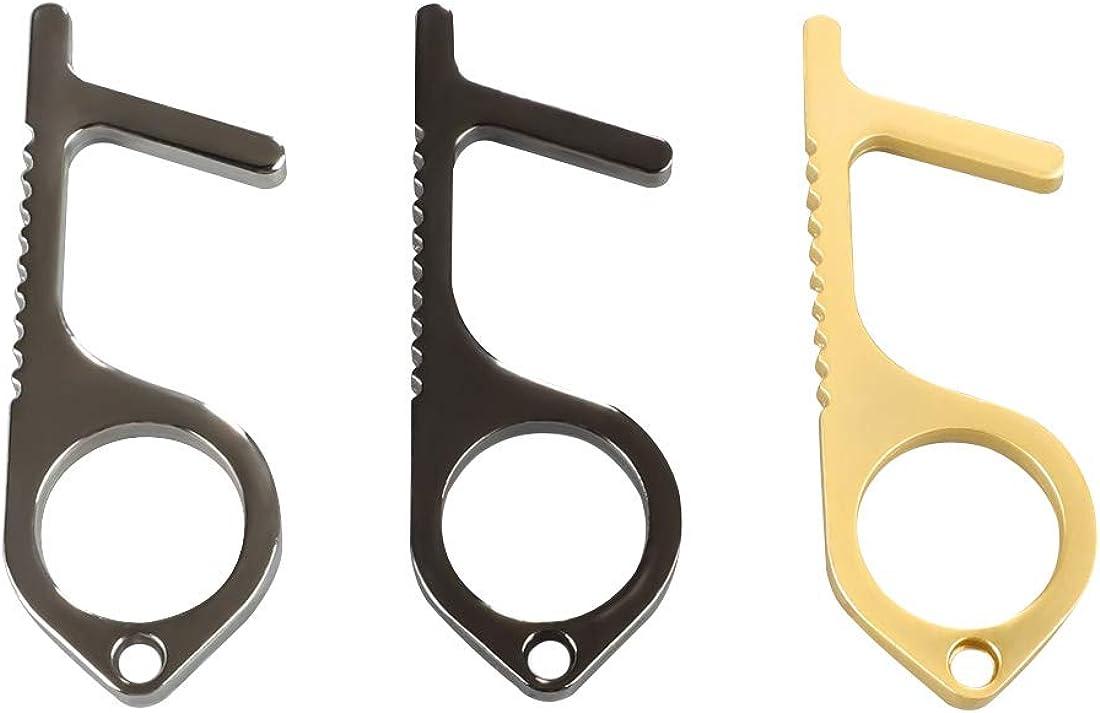 Gift for Grandmother Hands Free Button Pusher Tool Contactless Door Opener Keychain