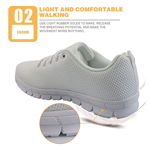 Flats Walking Women's US5 Cats 12 Nopersonality Shoes Running Cartoon Casual Sneakers Tennis wqU7E7fRY