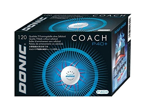Donic Coach P40+ Cell-Free 120ER Balles de tennis de table dans le carton blanc