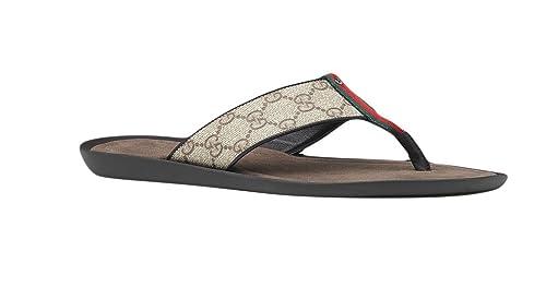 215f46b0ef3c5 Gucci Men s GG Supreme Canvas Flip-Flop Sandals