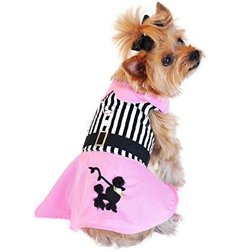 Doggie Design Pink Poodle Designer Dog Dress (Poodle Skirt For Dogs)
