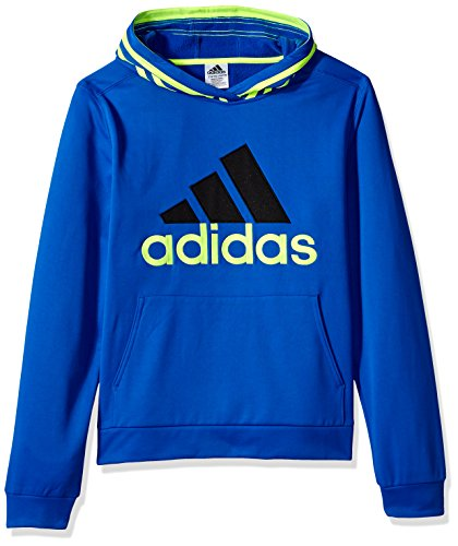 adidas Little Boys' Athletic Pullover Hoodie, Blue, 5