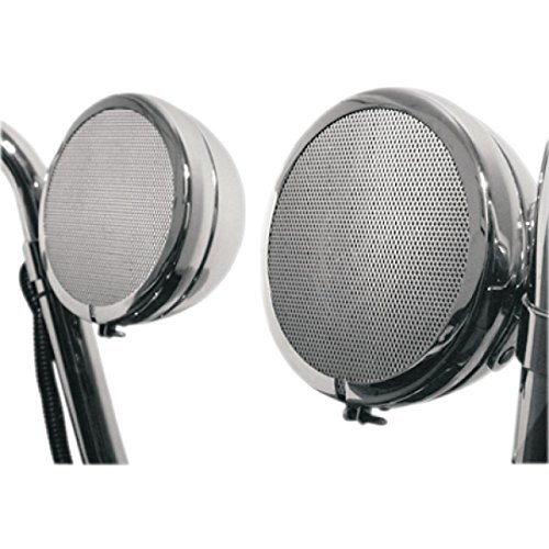 MH Instruments Rumble Road Premium Amplified Stereo Speakers - Chrome - With 1in Mounting Hardware 118 by MH Instruments