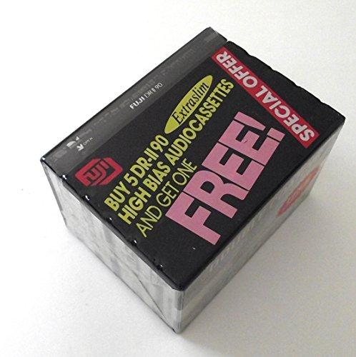 Fuji DR-II High Bias Audio Cassettes 90 Minutes (Pack of 6) by Fuji