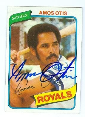 - Autograph 120294 Kansas City Royals 1980 Topps No. 130 Amos Otis Autographed Baseball Card