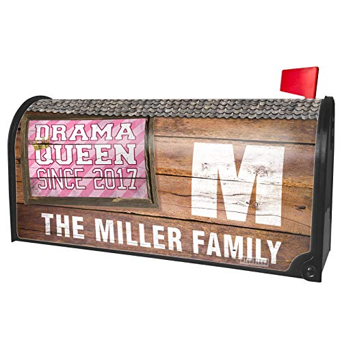 NEONBLOND Custom Mailbox Cover Drama Queen Since 2017, in Pink]()