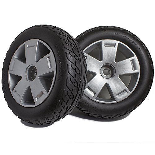 (DW840 Pride Victory 10 3 or 4 Wheel Scooter Rear Wheels and Tire Replacement, Sold in Pairs)