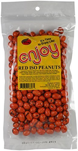 Enjoy Red Iso Peanuts, 8 Ounce by Enjoy ()