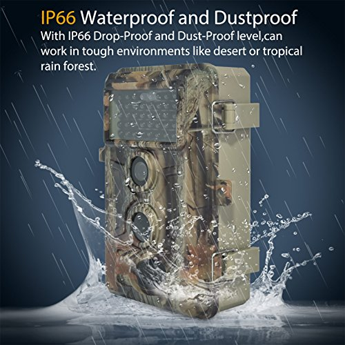 DIGITNOW Trail Camera 16MP 1080P HD Waterproof, Wildlife Hunting Scouting Game Camera with 40Pcs IR LED Infrared Night Vision Up to 65FT /20M, Surveillance Camera 130° Wide Angle 120° Detection by DIGITNOW (Image #4)