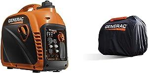 Generac 7117 GP2200i 2200 Watt Portable Inverter Generator - Parallel Ready & 6875 Storage Cover for iQ2000 Portable Inverter Generator