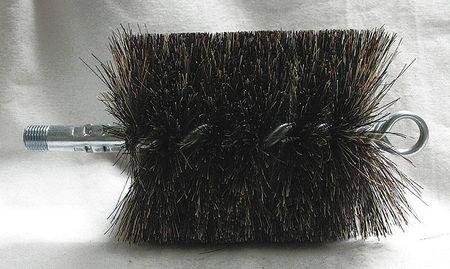 Flue Brush, Dia 4, 1/4 MNPT, Length 8 Dia Flue Brushes