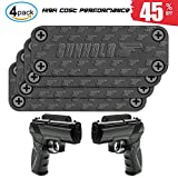 Gun Magnet Mount, 4-Pack Rubber Coated 35 lbs Rated Gun Magnetic Holster, Concealed