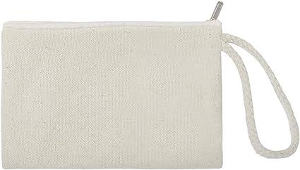 Aspire - Bolsas de lona de algodón con cremallera, 60 unidades, 6 3/4 x 4 3/4 pulgadas, lona, natural, talla única: Amazon.es: Belleza