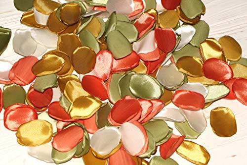 Garden Wedding, Set of 100, Orange Rose Petals, Olive Rose Petals, Cream Rose Petals, Gold Wedding, Halloween Decoration, Aisle Runners Decor, Fall Wedding
