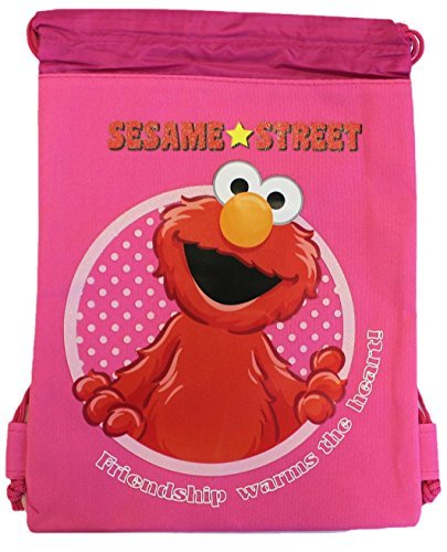 Drawstring Bag - Elmo Pink Cloth String Bag