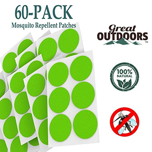 Mosquito Repellent Patches - Long Lasting Natural Essential Oil Bug Repeller Stickers - Deet-Free Insect Protection Patch - Non-toxic Insect Defender Product for Family - Safe for Kid Baby Adult