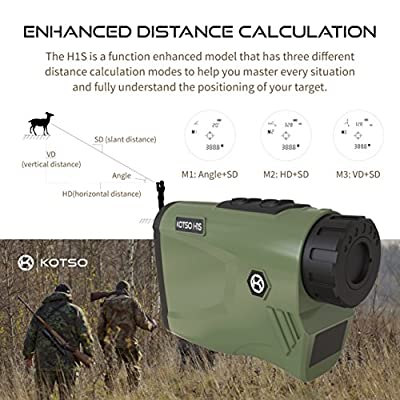 KOTSO Hunting Rangefinder Arch Angle Slope Range Finder H1S by KOTSO