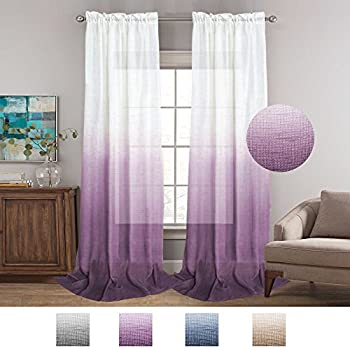 purple ombre grande rod panel sheer curtains products pocket marburn rainbow