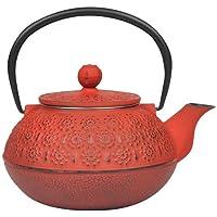 Taşev T2763 Linden Papatya 800 ml Kırmızı Döküm Çaydanlık