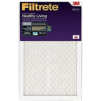 Filtrete Healthy Living Ultra Allergen Reduction AC Furnace Air Filter, MPR 1500, 20 x 25 x 1-Inches, 6-Pack