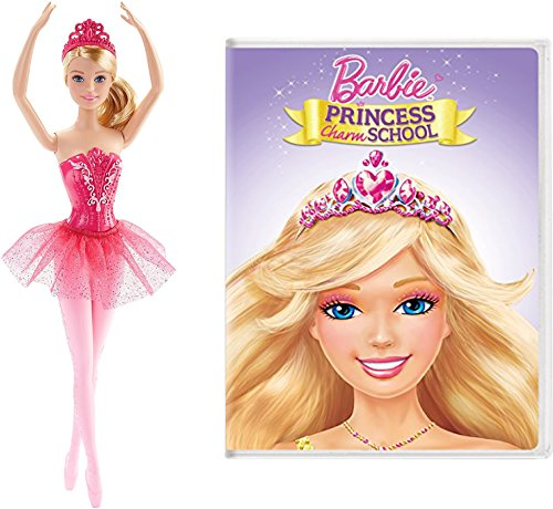 [Barbie Doll Sets for Girls Includes Barbie Fairytale Ballerina Doll & Barbie Princess Charm School DVD] (Holmes On Homes Costumes)