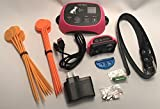 Wireless Electronic Pet Fence System with Rechargeable Battery and 1640 ft Radius (PINK)