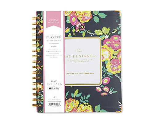 "Day Designer for Blue Sky 2018 Weekly & Monthly Planner, Hardcover, Twin-Wire Binding, 7"" x 9"", Peyton Navy -  Blue Sky the Color of Imagination, LLC, 103626"