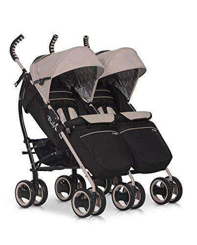 Kinderwagen Duo Comfort LATTE für Geschwister / Zwillinge - Spazierwagen - Buggy aus Aluminium - neues Modell 2016 easyGo