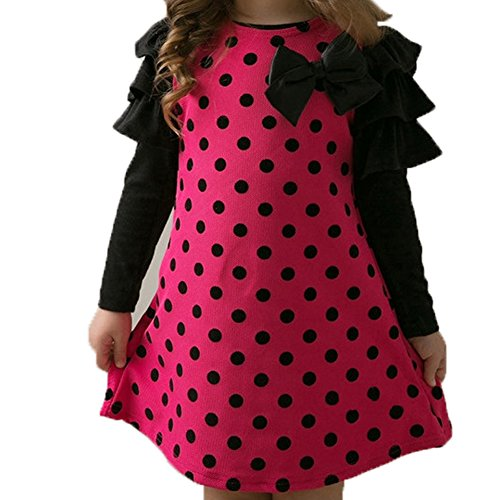 Top Shop US Girls Polka Dot Butterfly Knot Princess Rosered - List Australian Designers