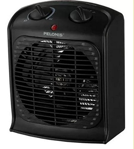 Pelonis Fan-Forced Heater-Small Room, Black Ceramic Heaters Pelonis