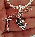 EWT Prague Charles Bridge Travel landmark Charm Pendant -fits all DIY charm bracelets and any chain necklace