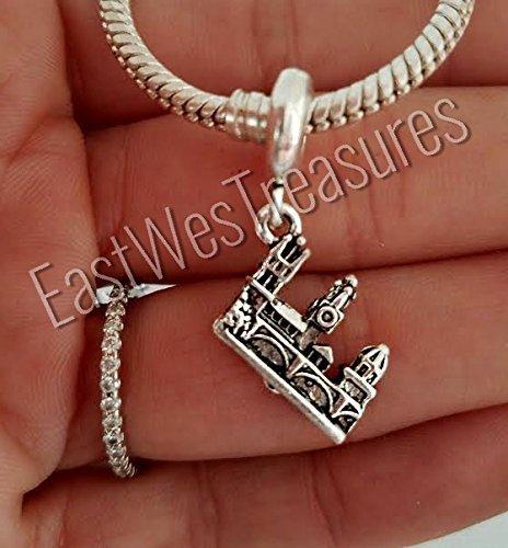 EWT Prague Charles Bridge Travel landmark Charm Pendant -fits all DIY charm bracelets and any chain necklace by EastWest Treasures