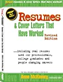 img - for Resumes & Cover Letters That Have Worked by Anne McKinney (2012-04-03) book / textbook / text book