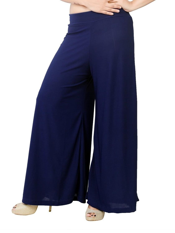 TNQ Women's Solid Palazzo Pants