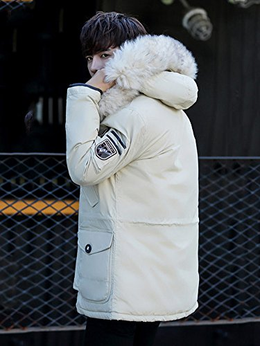 Hood Field Jacket Coat Thicken with Creamy Parka Tomwell Warm Outdoor Mens Casual Coats Outerwear Winter qwXxZYU