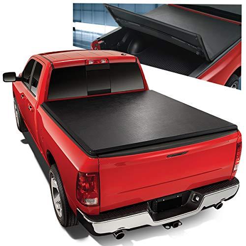 Tri-Fold Adjustable Soft Top Trunk Tonneau Cover for Ram Truck 1500/2500/3500 8 Ft Long Bed Fleetside 09-18]()
